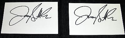 """ASSORTED 3X5"""" AUTOGRAPH COLLECTION LOT #8 (2) UNIDENTIFIED *L'S* HAND SIGNED"""