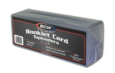 Pack of 10 BCW Booklet Trading Card Hard Plastic Topload Holders protectors