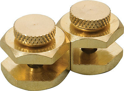Johnson Brass Stair Gauge Set of Two Attaches To All Framing Carpenter Squares