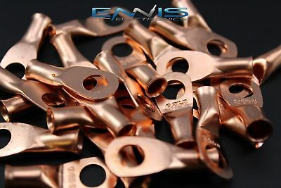 6 Gauge Copper 5/16 Ring 10 Pk Crimp Terminal Connector Awg Ga Car Eye Cur6516