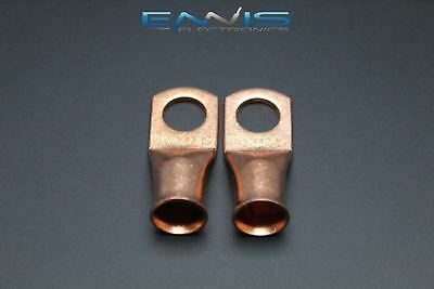 2/0 Gauge Copper 1/2 Ring 2 Pk Crimp Terminal Connector Awg Battery Cur2012