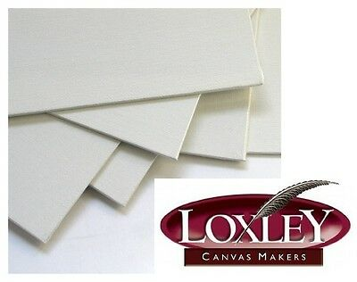 """3 PANORAMIC 20"""" X 8"""" BLANK LOXLEY CANVAS ACRYLIC PAINTING BOARDS 508mm x 203mm"""