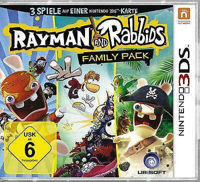 Rayman and the Rabbids - Family Pack  (3 in 1) Nintendo 3DS  !!!!! NEU&OVP !!!!!