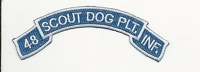 Us Army Patch - 48Th Infantry Scout Dog Platoon - Scroll