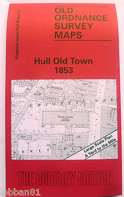 Old Ordnance Survey Map Hull Old Town Yorkshire  1853 Sheet 12 New