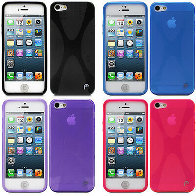 Lot of 4 Multicolor Slim X Design TPU Skin Case Cover for Apple iPhone SE 5S 5