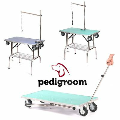 Pedigroom dog pet cat grooming mobile portable show table with wheels arm noose