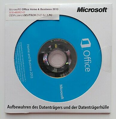 MS Office 2013 Home and Business OEM Vollversion mit Datenträger DVD deutsch NEU