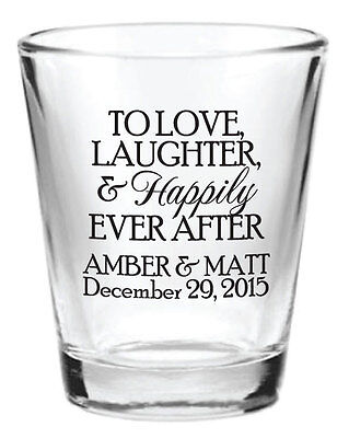 192 Wedding Favors Custom Glass 1.5oz Shot Glasses 2015 New Personalized Designs