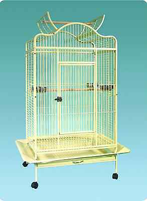 """New Large Bird Parrot Cage Open Top 32""""Lx24""""Wx61""""H African Grey Macaw Amazon"""