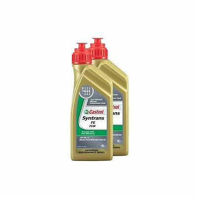 2 Litres Castrol Syntrans FE 75W Fully Synthetic Manual Gear Oil - Vauxhall