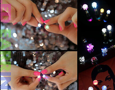 Blinking Special Showy White Led Light Cool Party/Festival Studs Earrings FT78
