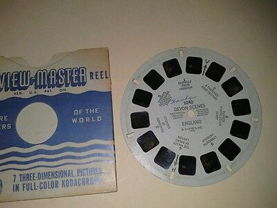 1940s Sawyers Viewmaster 3D Stereo 1040 reel Devon Scenes England photos