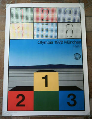 Orig.poster   Olympic Games MÜNCHEN 1972 // 84 x 60 cm / Special Edt. A !! RARE
