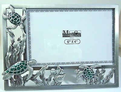 Lovely large  Sea Turtle solid Pewter  Picture - Photo Frame