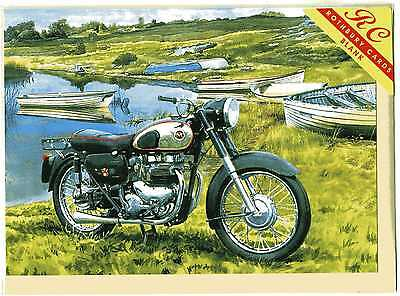 MATCHLESS MOTORCYCLE--GREETINGS PRINT CARD--TREVOR MITCHELL