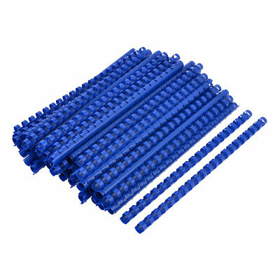 100 Pcs Office Blue Plastic 12mm Dia 21 Rings Spines Binding Combs