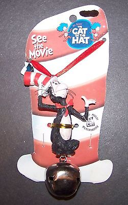 Dr. Seuss The Cat in the Hat Necklace & Bell NWT - Read Across America Day