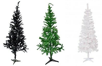 Traditional Indoor Artificial Christmas Xmas Tree Decoration Green/ Black/ White