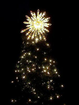 LIGHTED  MOST GORGEOUS * CRYSTAL STAR * TREE TOPPER CHRISTMAS WOW