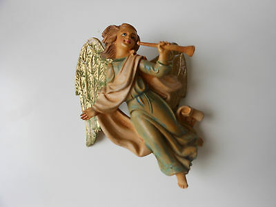 "6"" unmarked Fontanini Nativity TRUMPETING ANGEL - marked  Italy"