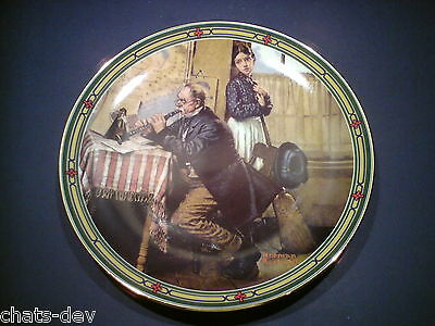 EDWIN KNOWLES - Limited Edition Plate - THE MUSICIAN'S MAGIC by Norman Rockwell