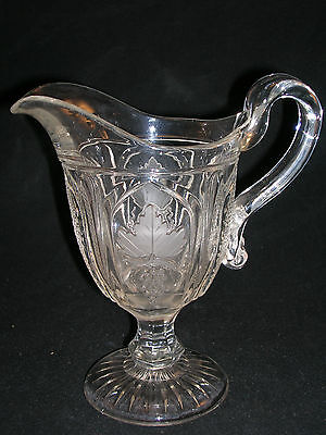 MMA FLINT MAGNET AND GRAPE CREAM PITCHER - IMPERIAL GLASS - CIRCA 1976