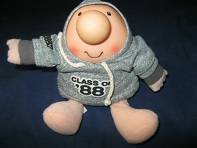 Vintage Ziggy Doll Class of 88  with grey Hoodie Nice