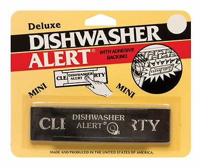 Deluxe Dishwasher Alert w/ Adhesive Backing - Clean or Dirty Sign - Non-Magnetic