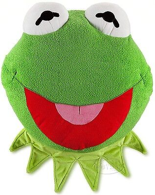 Disney Store Muppets Kermit the Frog Large Pillow Stuffed Plush Doll Muppet NEW