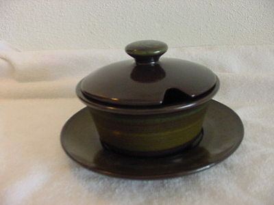 FRANCISCAN MADEIRA (USA) 3 PART GRAVY BOAT W/LID & UNDERPLATE FANTASTIC!