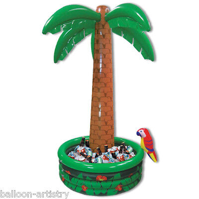 6ft Tropical Luau Hawaiian Garden Party Palm Tree Inflatable Drinks Cooler BA