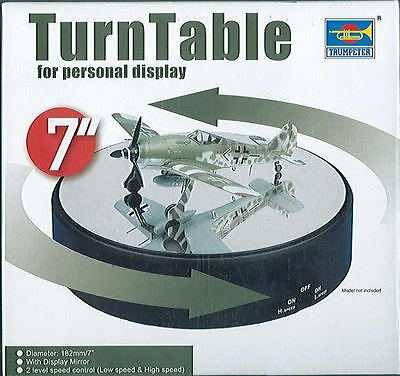 "Trumpeter Turntable Rotating Display 18.2Cm 7"" Mirror 2.5 Or 3.5 Rpm 09835 Stand"