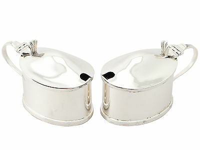 Antique George V Pair of Scottish Sterling Silver Mustard Pots