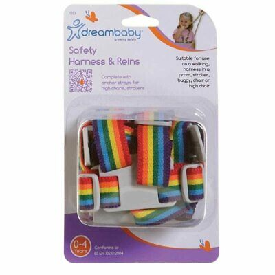 Dreambaby Child Toddler Safety Harness Reins - Walking Leash Tether - Rainbow