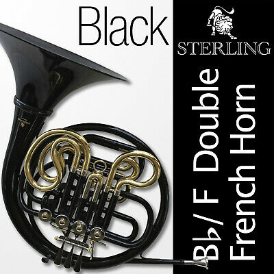 Silver-Plated • Bb/F Double STERLING French Horn • Pro Quality • Backpack Case •