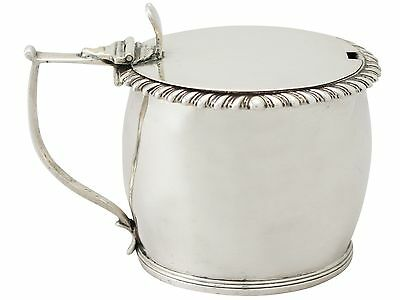 Antique William IV Irish Sterling Silver Mustard Pot Dublin 1832