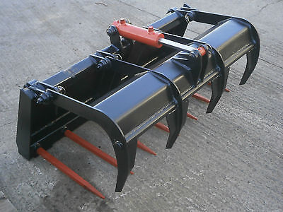 New  Skid Steer Small Fork And Grapple - 44 Inch Wide