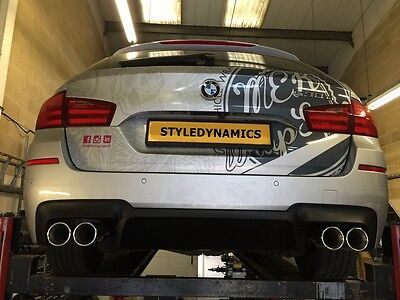 Bmw F11 Touring/estate 530D M5 Style Quad Exhaust Conversion, With Oe Diffuser