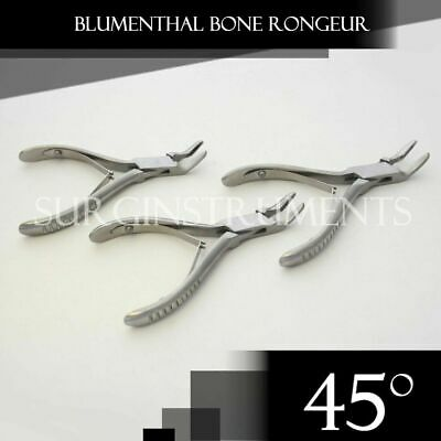 "3 Pieces Of Blumenthal Bone Rongeur 45 Degree 5.5"" Surgical Dental Instruments"