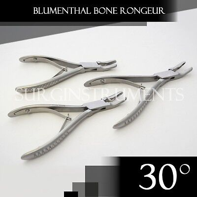 "3 Pieces Of Blumenthal Bone Rongeur 30 Degree 6"" Surgical Dental Instruments"