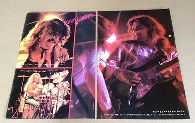 1976 Deep Purple 3pg 4 photo JAPAN mag feature / tommy bolin / clippingss 06m