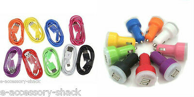 Dual Port Car Charger + 2 Micro USB Cables (For All Android Phones)
