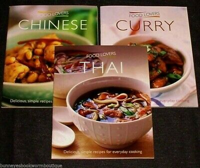 Lot 3 Chinese THAI Curry COOKBOOKS Brand New COOKING Recipes ASIAN Indian