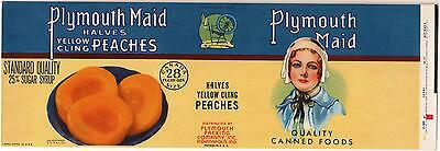 *Original* PLYMOUTH MAID Pilgrim CANADA CANADIAN VERSION Can Label NOT A COPY!