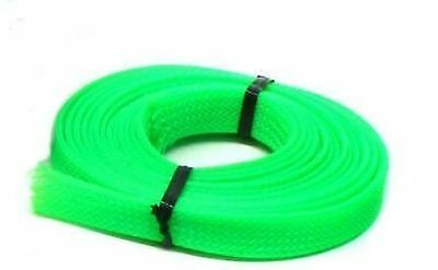 UV Green PC  Cable Sleeving - 3 metres x 12mm