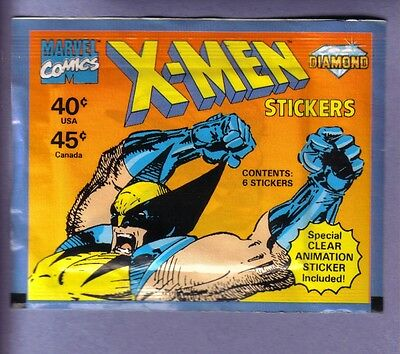 1993 Diamond Marvel Comics X-Men Stickers Pack!