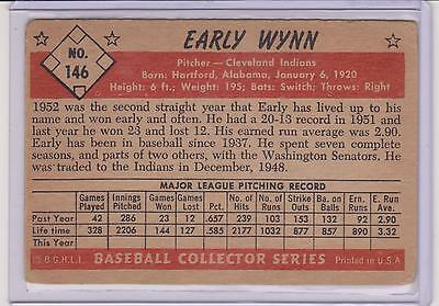 1953 BOWMAN COLOR EARLY WYNN HIGH NUMBER CARD #146 ~ BV $200 ~ CLEVELAND INDIANS