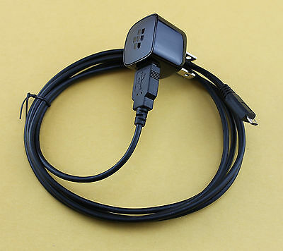 OEM BlackBerry Travel AC DC Wall Home Adapter + 6 Feet Micro USB Charger Cable