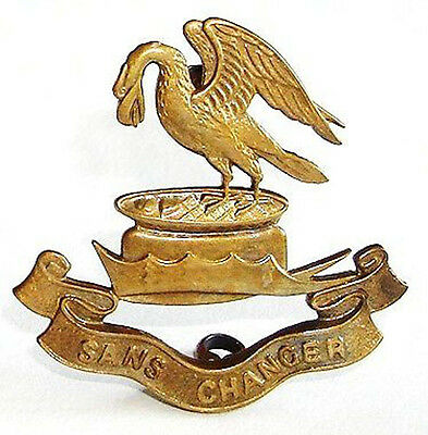 WW1 THE LIVERPOOL PALS ARMY CAP BADGE BRASS METAL